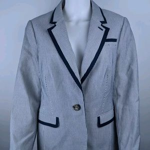 Boden 12R Blazer Seersucker Nautical Striped